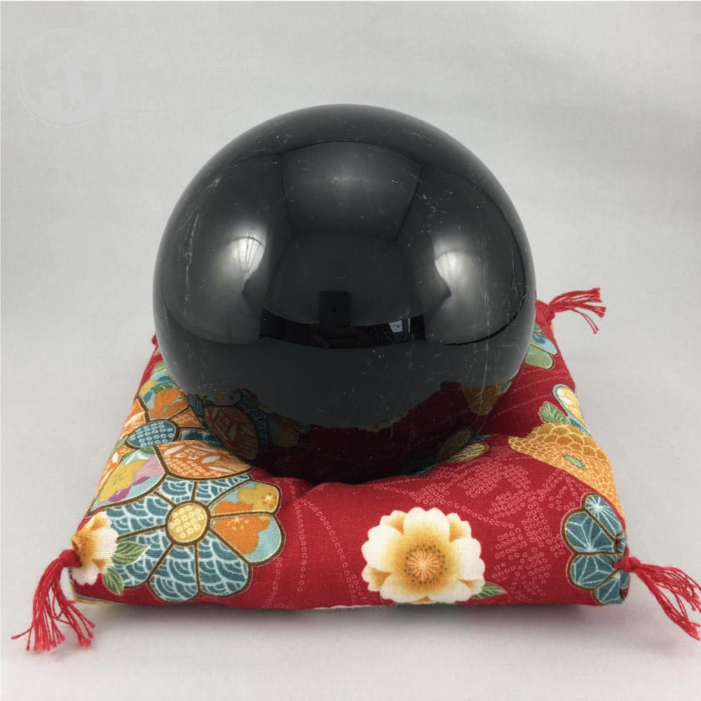 黒水晶(モリオン) 天然チベット産 約97mm 丸玉 一点物 魔除け 最強石