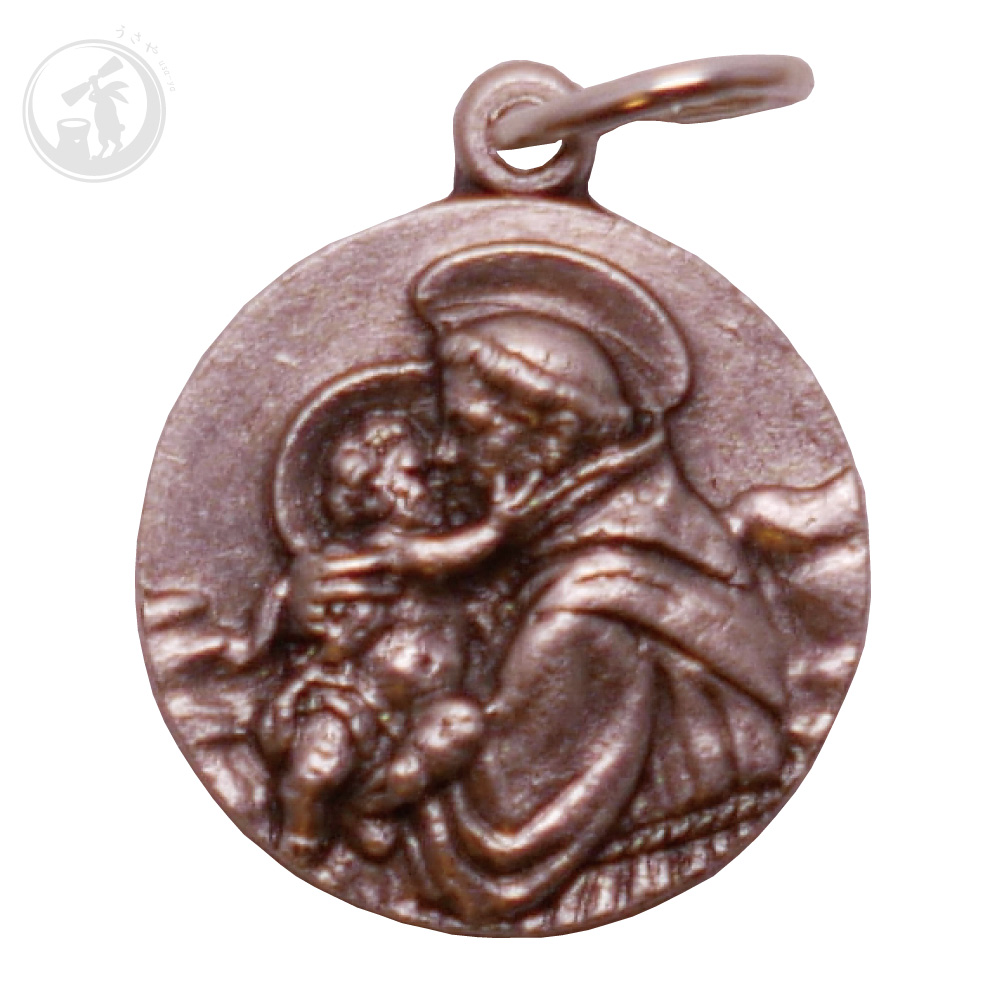 イタリア製 聖アントニオ メダイ 直輸入 お守り サンタントニオ聖堂 奇跡のメダイ