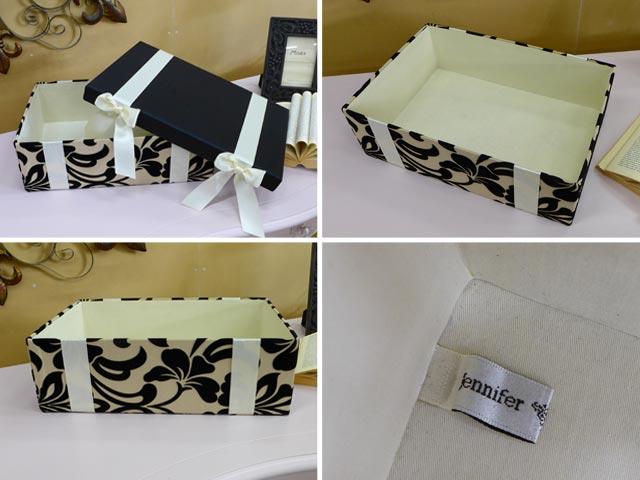 ジェニファーテイラー ボックス 3個セット 白 黒 ホワイト ブラック リボン付き ダマスク柄 収納 収納ボックス アウトレット 輸入 アンティーク調 クラシック おしゃれ かわいい 輸入雑貨 インテリア 小物入れ ふた付き レクタングルボックス 送料無料 Yorke Jennifer