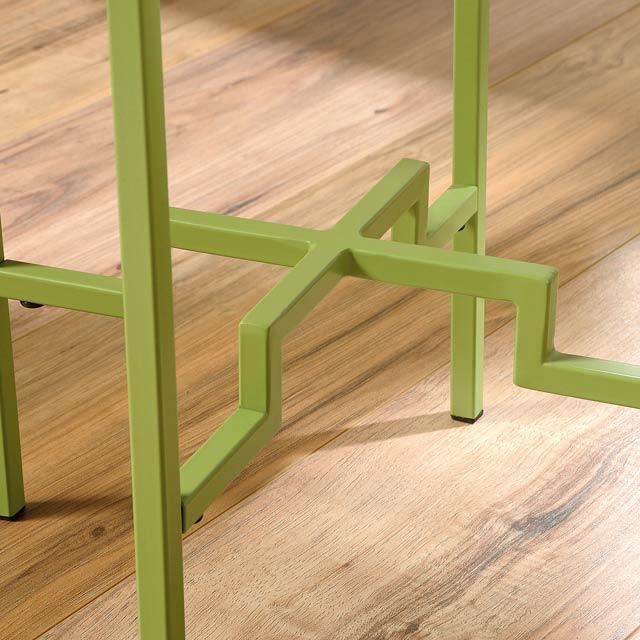 【見切品】 サイドテーブル 丸 丸テーブル アクセントテーブル ナイトテーブル 組立式 組立済み グリーン 緑 メタル パイン 木製 アウトレット ランプテーブル 花台 家具 おしゃれ リビング 円形 丸型 モダン クラシック テイスト アウトレット アメリカン Viabella 420103 S