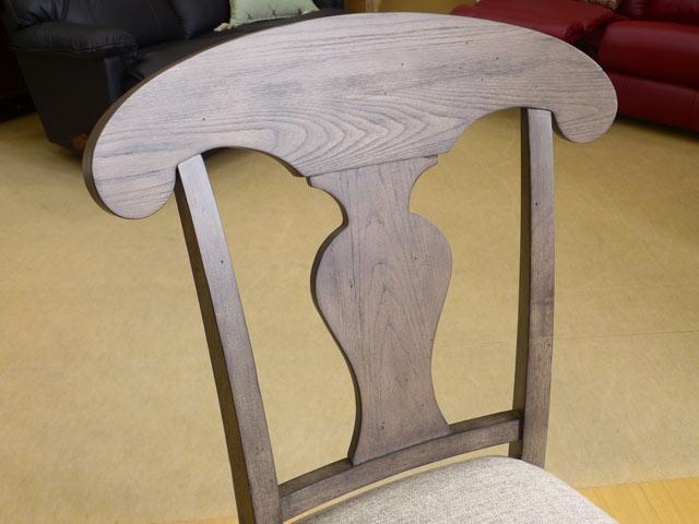 ダイニングチェア 椅子 アンティーク調 木製 フレンチカントリー カントリー おしゃれ かわいい ブラウン いす ダイニングチェア 布 布地 ダイニング サイドチェア Brookhaven 6400-240KD Legacy