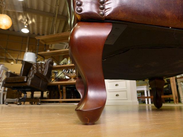 チェスターフィールド ウイングチェア 1人掛け ウイングバック チェア レザー ソファ アンティーク ビンテージ ブラウン レトロ ヴィンテージ アメリカン アメリカ 本革 英国 イギリス 調 クラシック テイスト 一人掛け 高級 木製