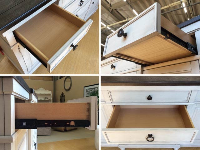 キッチンカウンター サイドボード キャビネット 食器棚 白 ホワイト グレー アンティーク調 高級 木製 フレンチ カントリー おしゃれ ブラウン Bookhaven 6400 Legacy