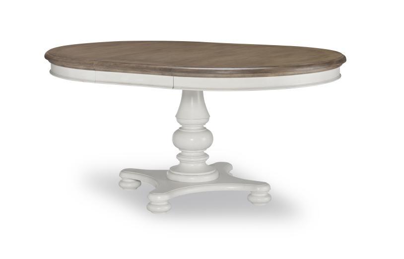 【ご予約受付中】ダイニングテーブル 丸 円形 楕円 4人掛け 6人掛け 白 ホワイト ツートン 伸縮 フレンチ カントリー シャビーシック 高級 アンティーク アンティーク調 クラシック テイスト ダイニング テーブル 4人 6人 伸長式 Farmdale Legacy 9770-521
