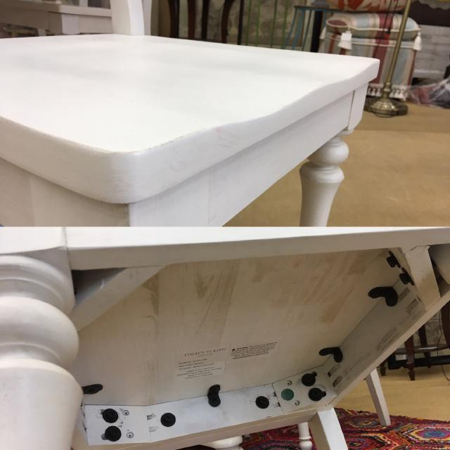 【ご予約受付中】円形 楕円形 ダイニングテーブルセット 4人用 5点セット 伸長式 シャビーシック 高級 アメリカ アンティーク 白 ホワイト Farmdale Legacy 9770-521