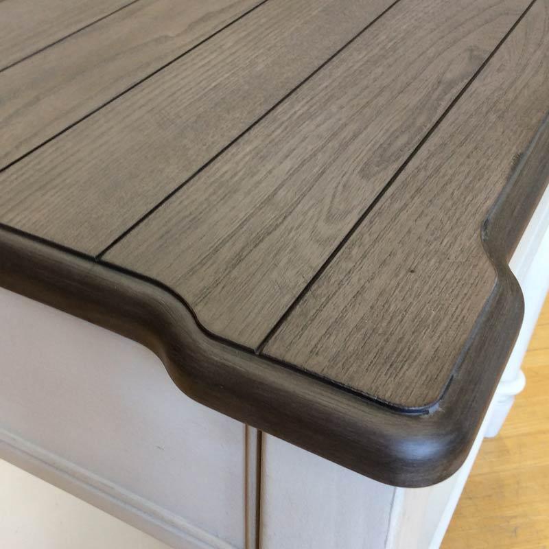テーブル サイドテーブル ナチュラル ツートン フレンチ カントリー アンティーク アンティーク調 おしゃれ かわいい 大人可愛い アメリカンカントリー ナチュラル&ホワイト エンドテーブル 6400-405 Brookhaven