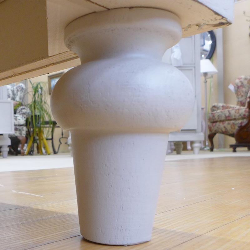ナイトスタンド ベッドサイドテーブル チェスト グレー 白 ホワイト シャビーシック 高級 キャビネット ナイトテーブル サイドテーブル アンティーク調 ナイトスタンド 6400-3100 Brookhaven