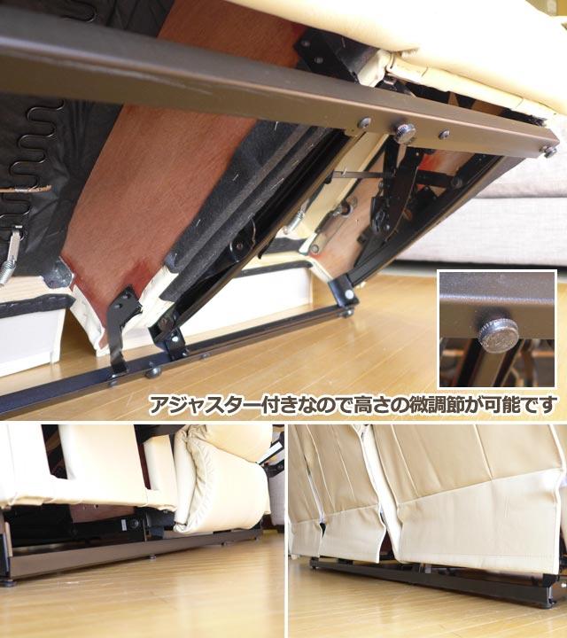 リクライニングソファ 3人掛け 本革 ソファ アイボリー 白 ホワイト オットマン一体型 テーブル付 総本革 リクライニングソファー 手動 フルフラット 高級 おしゃれ 3人 三人掛け リクライニングチェア ソファ オットマン アメリカン レイジーボーイ LA-Z-BOY 550 CARDINAL