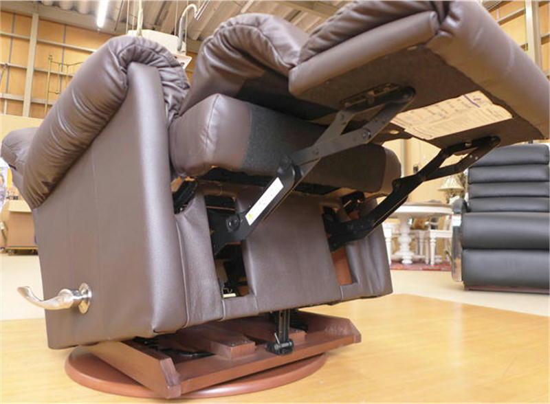【ご予約受付中】リクライニングチェア 本革 リクライニングソファ 一人用 総本革 ブラウン レザー ソファ オットマン一体型 一人掛け ロッキングチェア 回転式 高級 アメリカン レイジーボーイ 505 RIALTO MOCHA