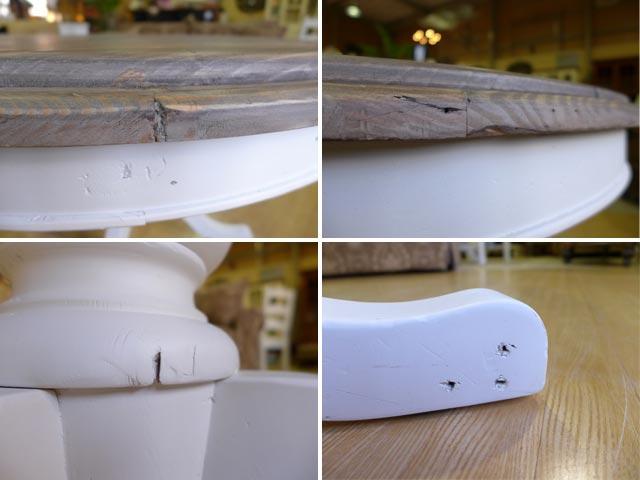 ダイニングテーブル 丸 丸テーブル シャビーシック パイン 無垢材 フレンチ カントリー 調 アメリカンカントリー アウトレット アメリカン アンティーク おしゃれ かわいい ダイニング テーブル ダイニングセット  CD013 PGT