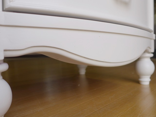 ハイチェスト 4910 Harmony アウトレット 輸入家具 アンティーク調 白家具 収納家具 姫系 木製 脚付き クラシック おしゃれ かわいい 6段 洋たんす ホワイト 白 チェスト Legacy