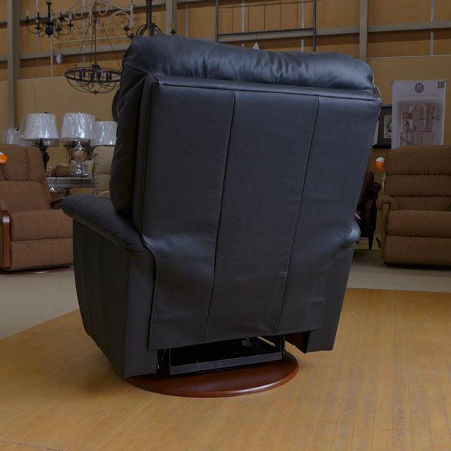 リクライニングチェア 本革 リクライニングソファ 一人用 総本革 グライダー レザー ソファ オットマン一体型 ソファー 一人掛け 高級 おしゃれ オットマン アメリカン レイジーボーイ 521 JAMES ブラック