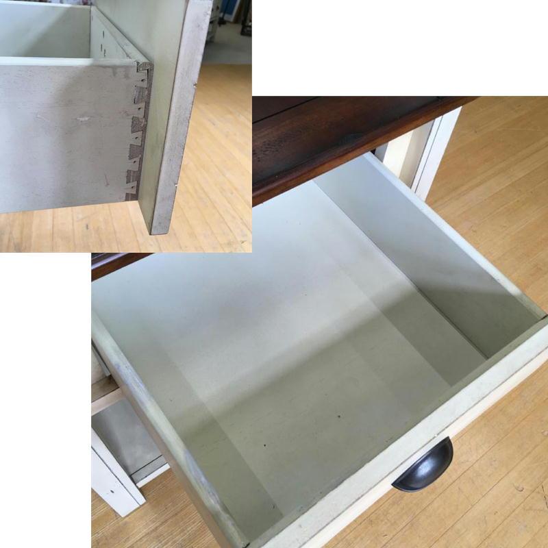 【特価品】 サイドテーブル ランプテーブル コーナーテーブル 輸入家具 アウトレット ツートン カントリー テイスト アメリカ Magnussen社