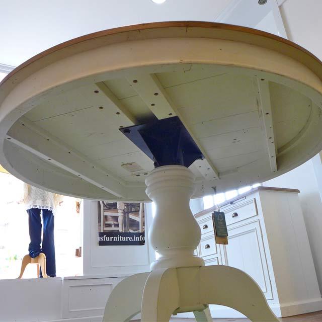 ダイニングテーブル 丸 丸テーブル パイン 家具 パイン材 フレンチ カントリー 調 カントリー ナチュラル アウトレット  アンティーク おしゃれ かわいい ダイニング テーブル ダイニングセット ドリフトナチュラル&ホワイト CD013 PGT