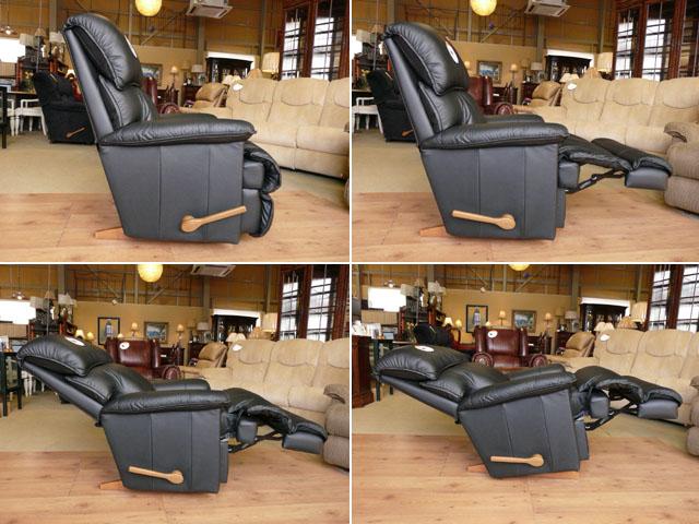 リクライニングチェア 本革 黒 ブラック リクライニングソファ 一人用 ソファ オットマン一体型 総本革 レザー ソファー 一人掛け 1人 リラックスチェア ロッキング 機能付き 高級 おしゃれ アメリカン レイジーボーイ LA-Z-BOY 550 CARDINAL