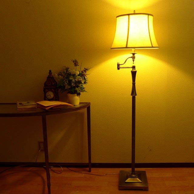スタンドライト フロアライト スタンドランプ モダン シルバー アンティーク ランプ ライト フロアランプ フロアスタンドライト アンティーク調 おしゃれ ベッドランプ ベッドサイド 高級 寝室 クラシック テイスト LED シェード シェードランプ アメリカン BO-2443-SWFL-AS