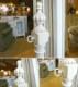 シュヴァルミラー 姿見 ホワイト ミラー 姫系 白 鏡 アンティーク アンティーク調 プリンセス 木製 白家具 高級 クラシック テイスト おしゃれ 可愛い ドレッサー 化粧台 寝室 洗面所 リビング ミラー GaBRIeLLa 136A034