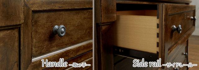 ドレッサー デスク  机 化粧台 鏡台 アンティーク アンティーク調 キャビネット クラシック テイスト 高級 おしゃれ かっこいい ナチュラル ブラウン 木製 子供部屋 寝室 ミラー 鏡 収納 収納付き 4920 Big Sur Legacy