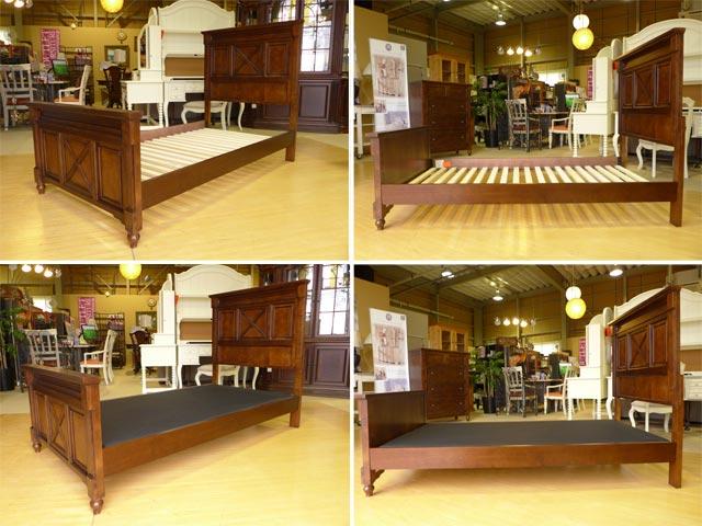 ベッドフレーム シングル ベッド ( マットレス 別売) アンティーク アンティーク風 ブラウン 茶 高級 USA 輸入 シングルベッド エレガント クラシック テイスト アメリカン カントリー 木製 4920 Big Sur アメリカ LEGACY レガシー社製