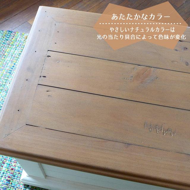 ボックス 収納 収納ボックス ベンチ フレンチ カントリー 木製 チェスト タンス たんす アンティーク調 シャビーシック クラシック おしゃれ 可愛い ツートン パイン材 アメリカン ブランケットボックス ドリフトナチュラル&ホワイト CB018 Plantation