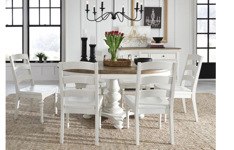 ダイニングテーブル 丸 円形 楕円 4人掛け 6人掛け 白 ホワイト ツートン 伸縮 フレンチ カントリー シャビーシック 高級 アンティーク アンティーク調 クラシック テイスト ダイニング テーブル 4人 6人 伸長式 Farmdale Legacy 9770-521