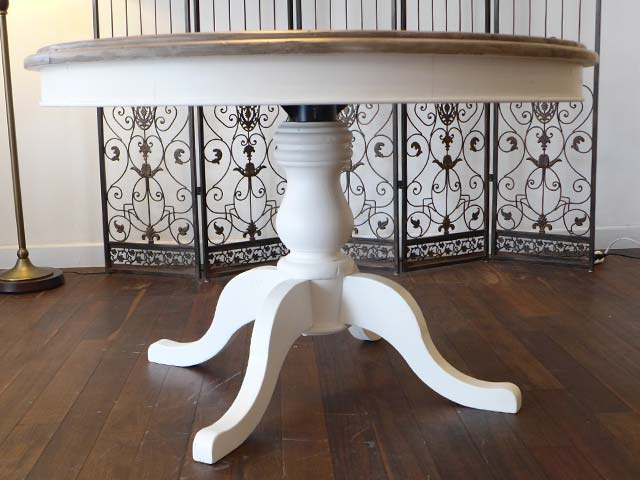 ダイニングテーブルセット 4人掛け 5点 セット 丸 丸テーブル シャビーシック パイン 無垢材 フレンチ カントリー アウトレット アンティーク ダイニング テーブル ダイニングセット 4人 2人 おしゃれ 可愛い CD013  Plantation