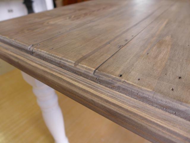 ダイニングテーブル 4人掛け 6人掛け 伸縮 伸長式 パイン 無垢材 シャビーシック 白 ホワイト ツートン フレンチ カントリー アンティーク アンティーク調 おしゃれ ダイニング テーブル 4人 6人 アウトレット CD025 Plantation