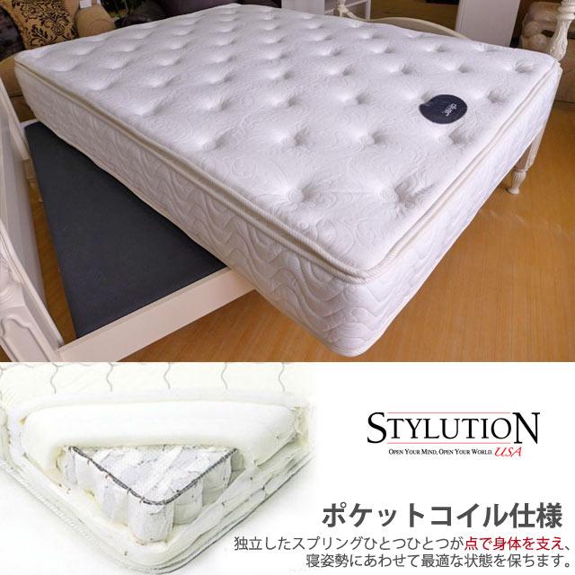 【ベッド同時注文専用】アウトレット 輸入家具 マットレス Pillow Top クイーン STYLUTION