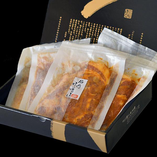 ギフト 大和美豚 豚ロースの 味噌漬け 500g (約100g×5枚) 化粧箱入り 送料無料 豚肉 ロース みそ 保存 お中元 お歳暮 内祝い 冷蔵便