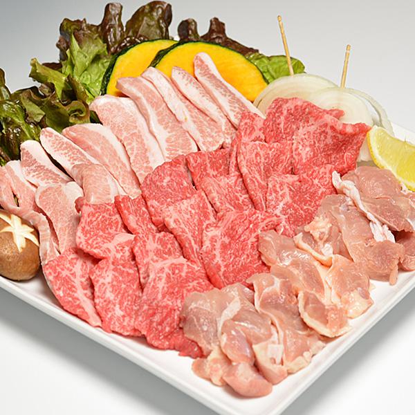 牛肉 黒毛和牛 A5 焼肉 お試しセット 大和榛原牛 カルビ 200g + 大和美豚 豚とろ 150g + 桜島どり モモ肉 150g 送料無料