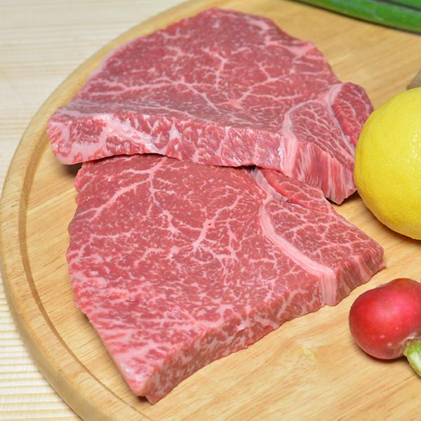 ギフト 大和榛原牛(黒毛和牛A5等級)長期低温熟成 赤身モモ ステーキ 150g×2枚 化粧箱入り 送料無料 お中元 お歳暮 内祝い 冷蔵便