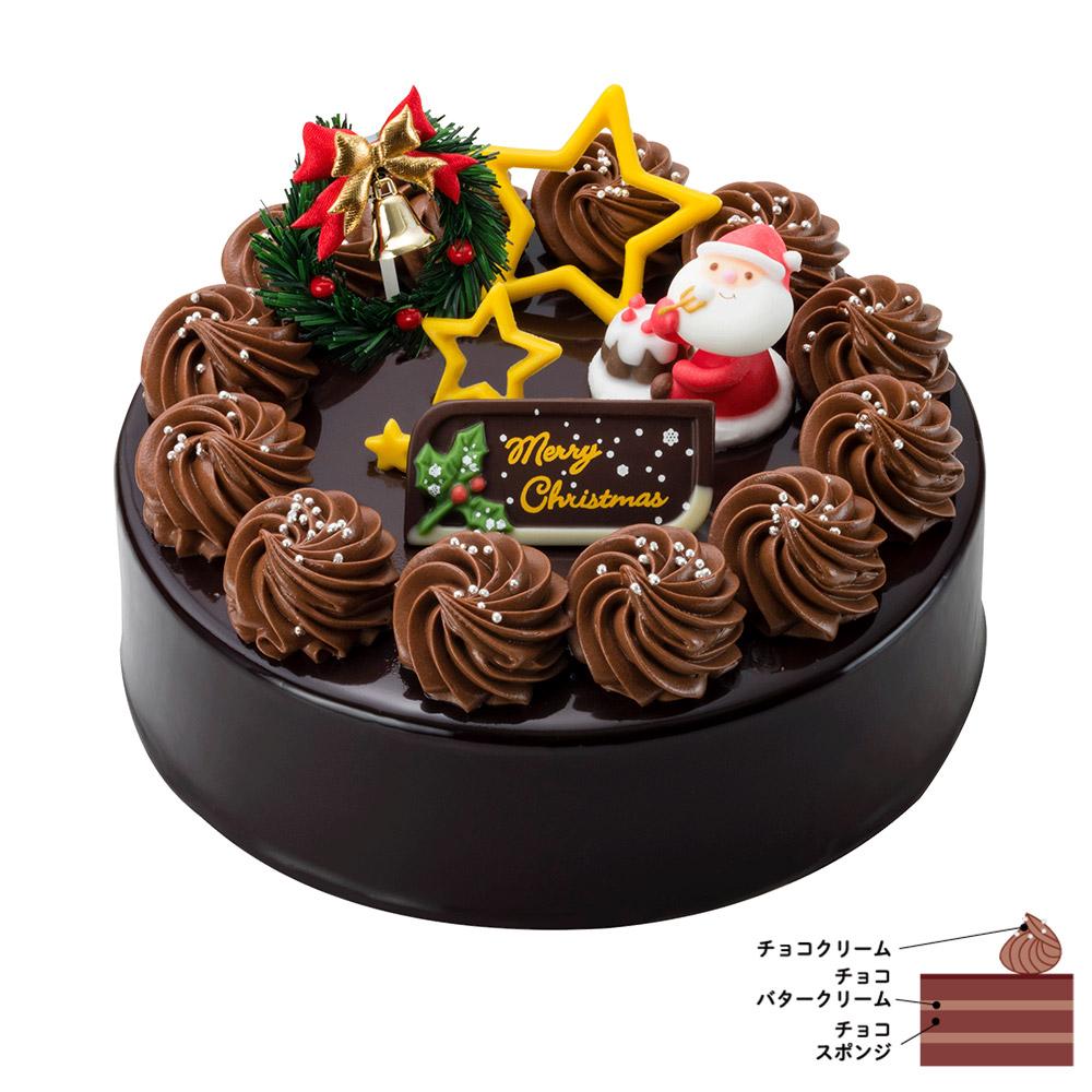 クリスマス・ショコラ 6号(18cm)【クリスマス店舗受取専用】:ケーキ