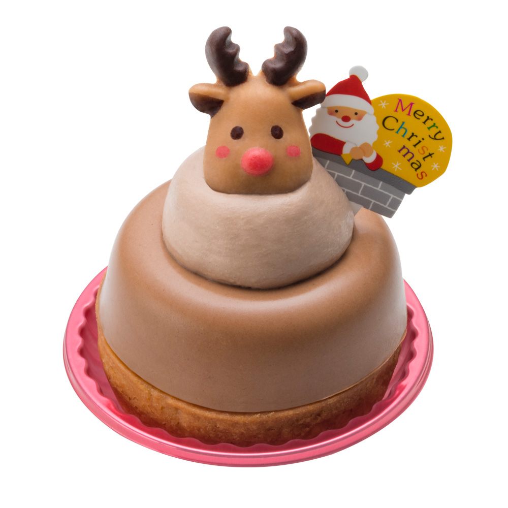 真っ赤な鼻のトナカイさん【クリスマス店舗受取専用】:ケーキ