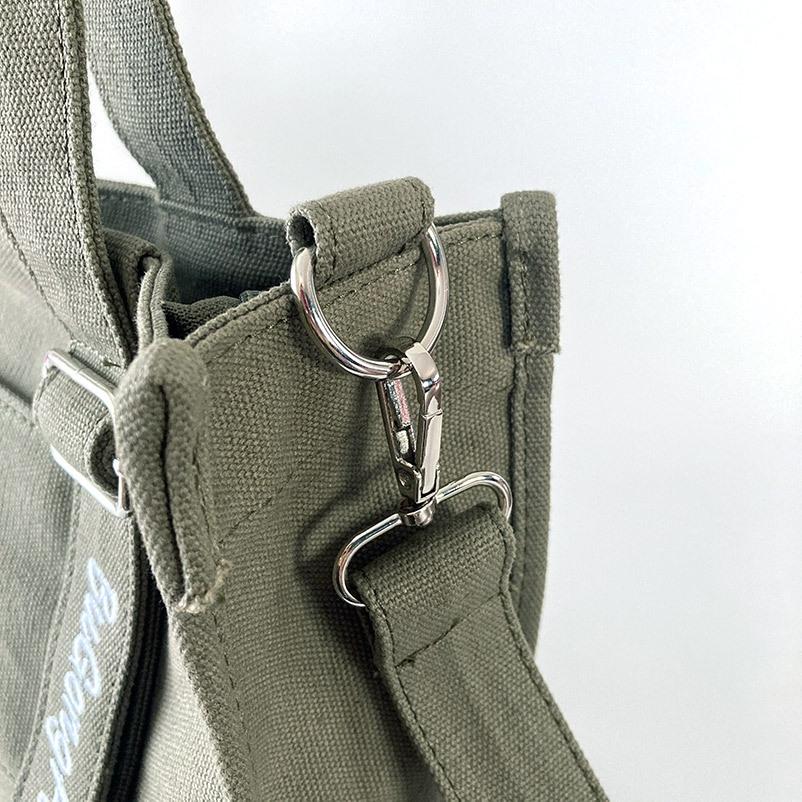 フロントポケット付き キャンバスバッグ