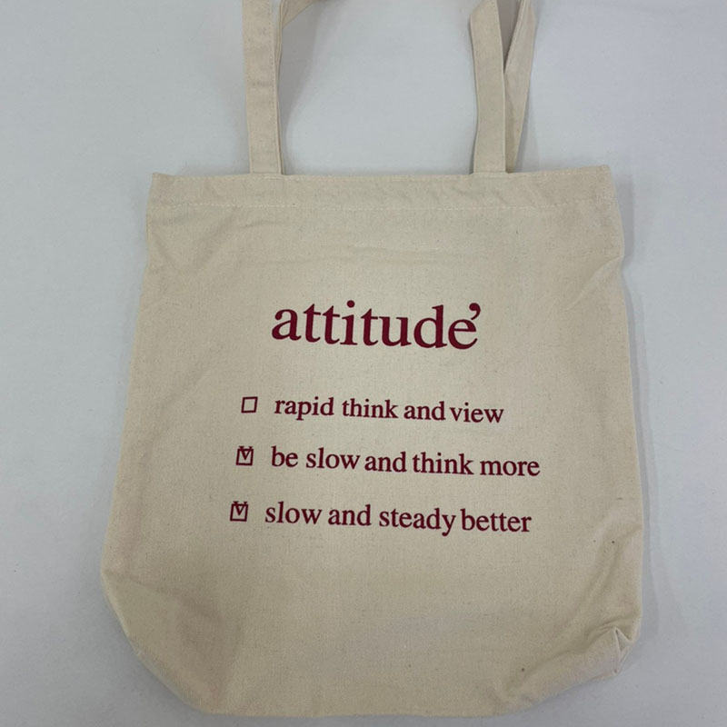 """attitude""プリントトートバッグ"