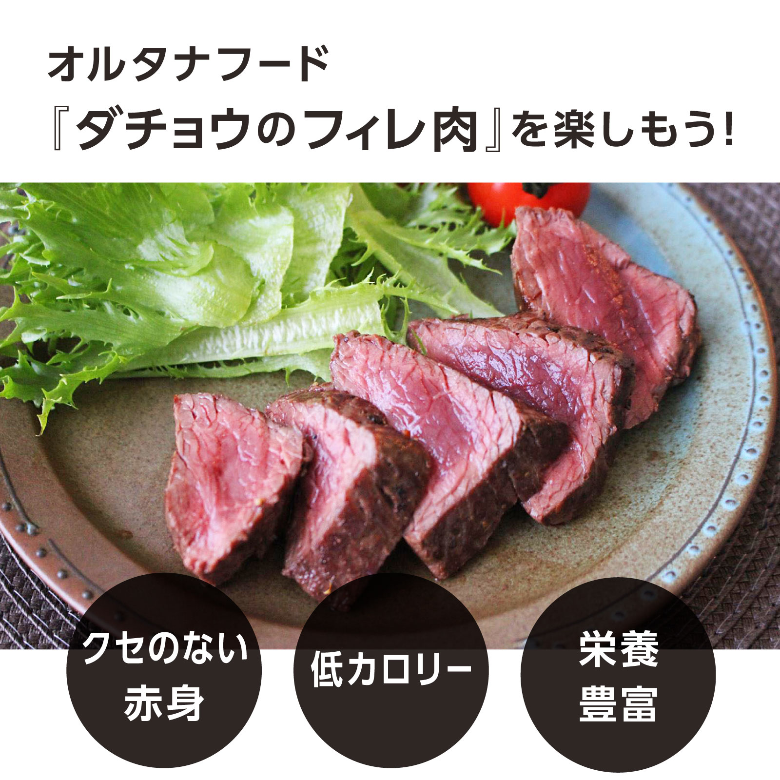 NHKで紹介!クイーンズオーストリッチ&ジビエの茨城県産ダチョウ肉フィレ600g