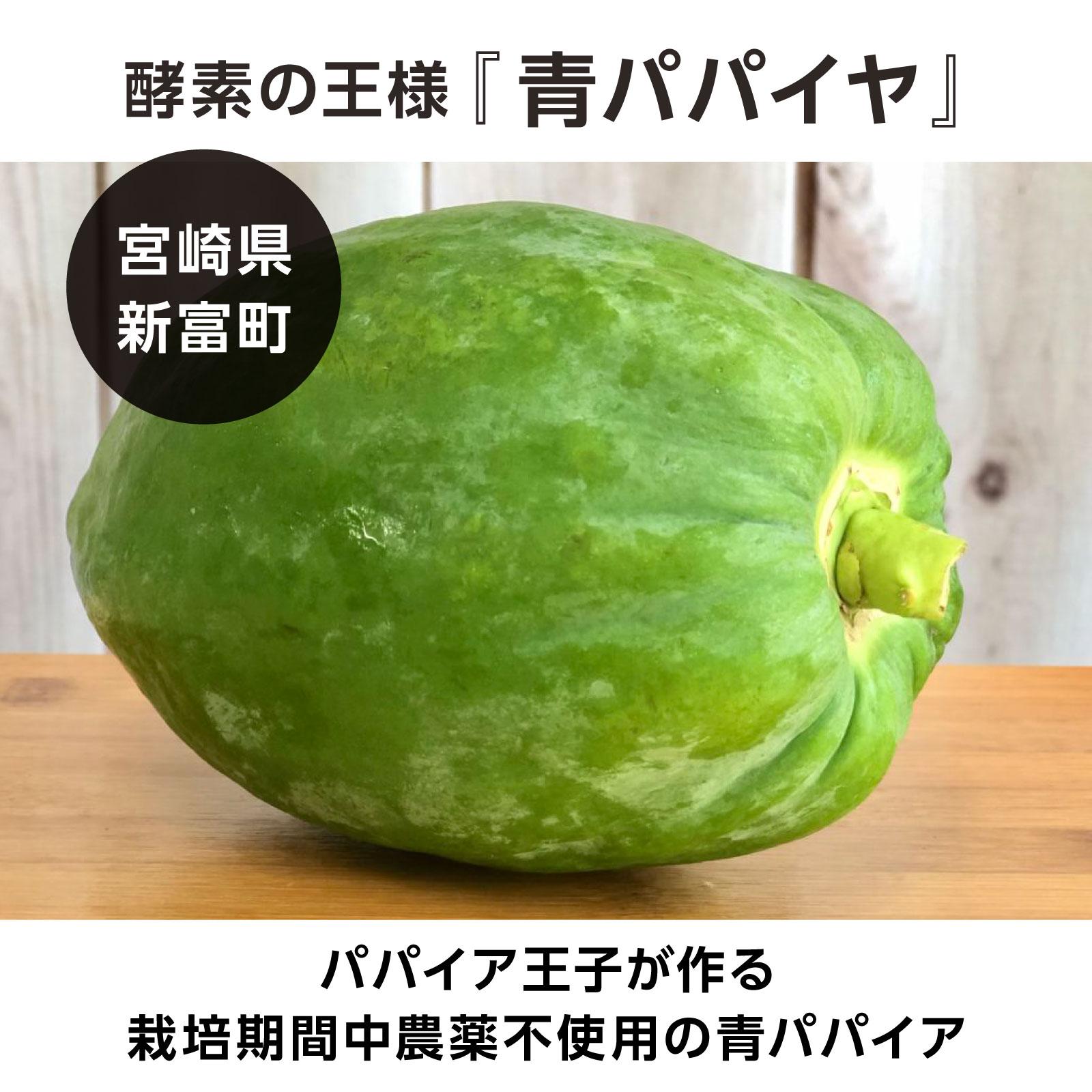 <宮崎県>パパイア王子の青パパイア