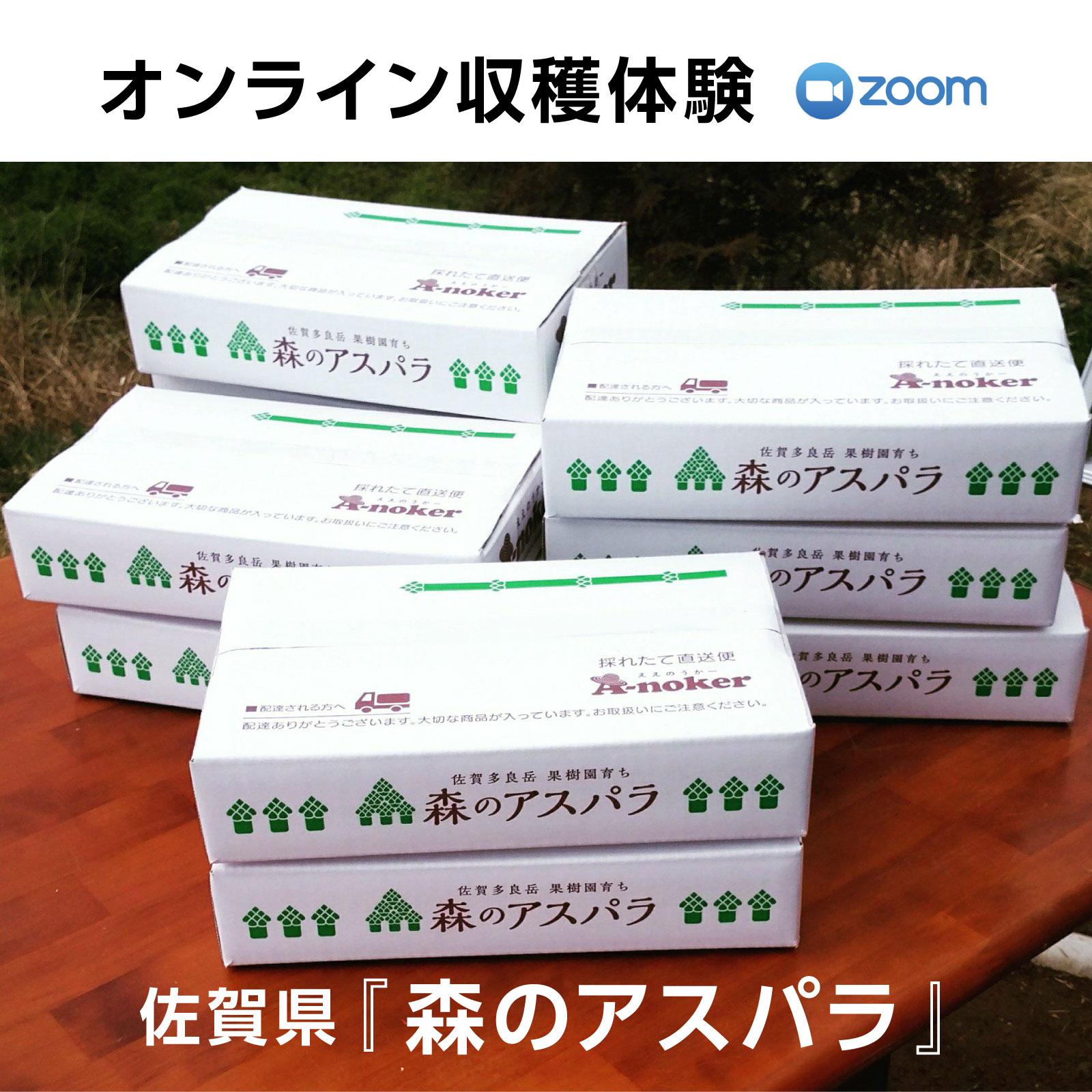 オンライン収穫体験《9月20日開催!》佐賀県A-nokerさんの森のアスパラ1�