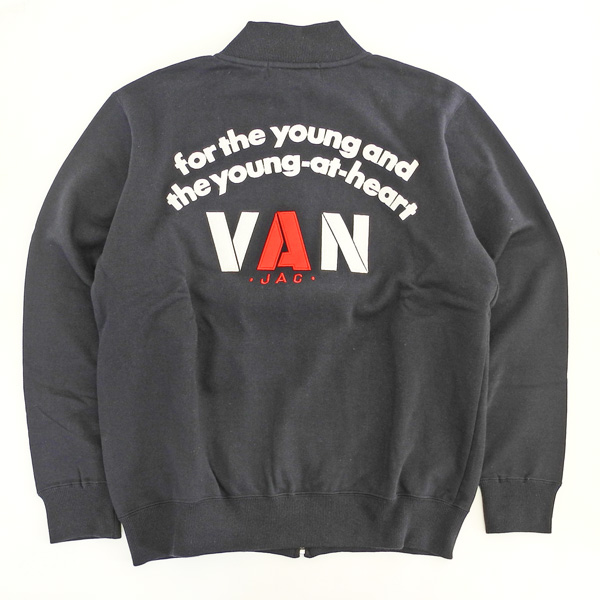 VAN 定番 フルジップバックロゴトレーナー 【PC-60719】