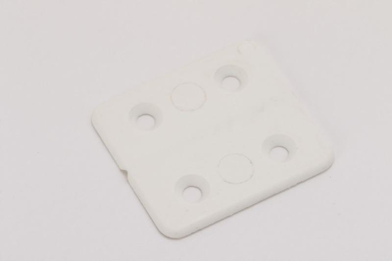【#53208】コーナー止めプラスティック 角度自在型40mm 白