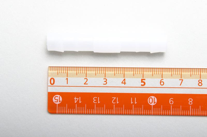 【#134022】ホース配管部品 直コネクター10ミリ プラスティク白