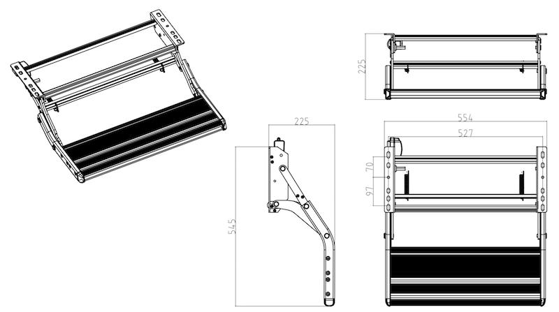 【#024071】RANGER エントランスステップ マニュアル W550