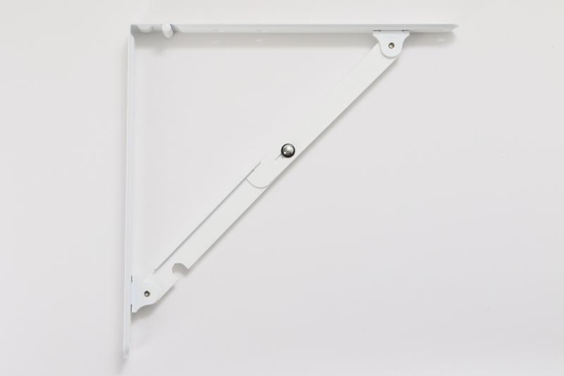 【#054032】がんじょう棚受 中 白 300mm WP-34