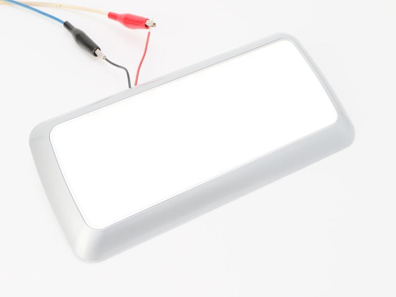 【#211117】 LEDスリムライト角 シルバー 2段階調光タイプ 12/24V