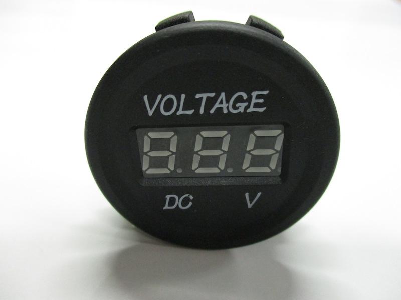 【#172114】埋込デジタルボルトメーター 12V