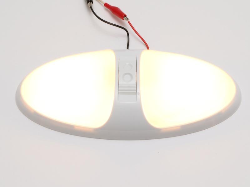 【#211052】シーリングランプ W 12V15W×2 ホワイト