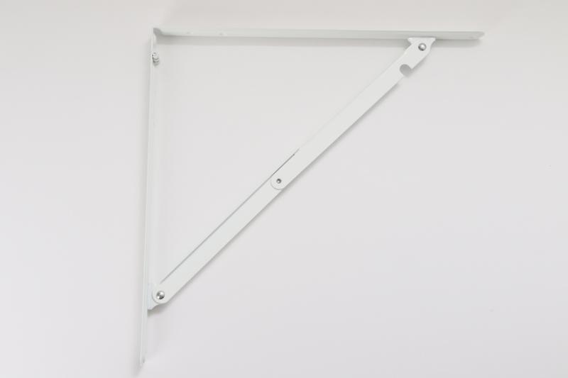 【#054034】がんじょう棚受 大 白 400mm WP-34