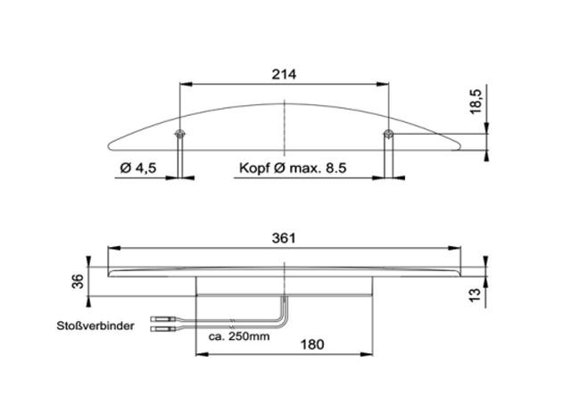 【#211147】JOKON  LEDブレーキライト 361mm 埋込マウント