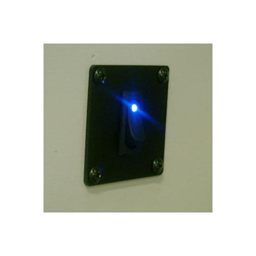 【#182023】LEDスイッチ アイスブルー 12V用