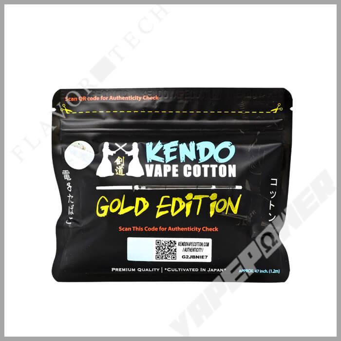 Kendo Cotton GOLD EDITION【Kendo Vape Cotton】ケンドウ コットン ゴールド エディション ケンドウ ベイプ コットン